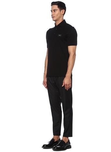 Dolce&Gabbana Dolce&Gabbana  Polo Yaka Logo Patchli T-shirt 101556981 Siyah